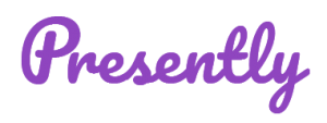 Presently logo - purple