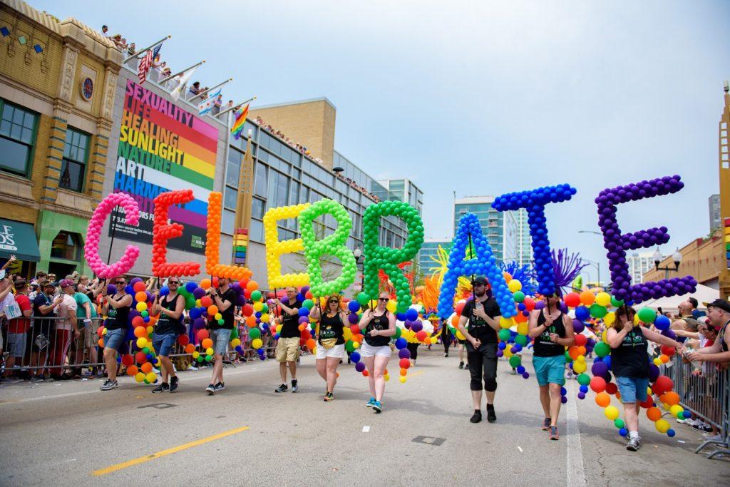 Pride parade in Chicago