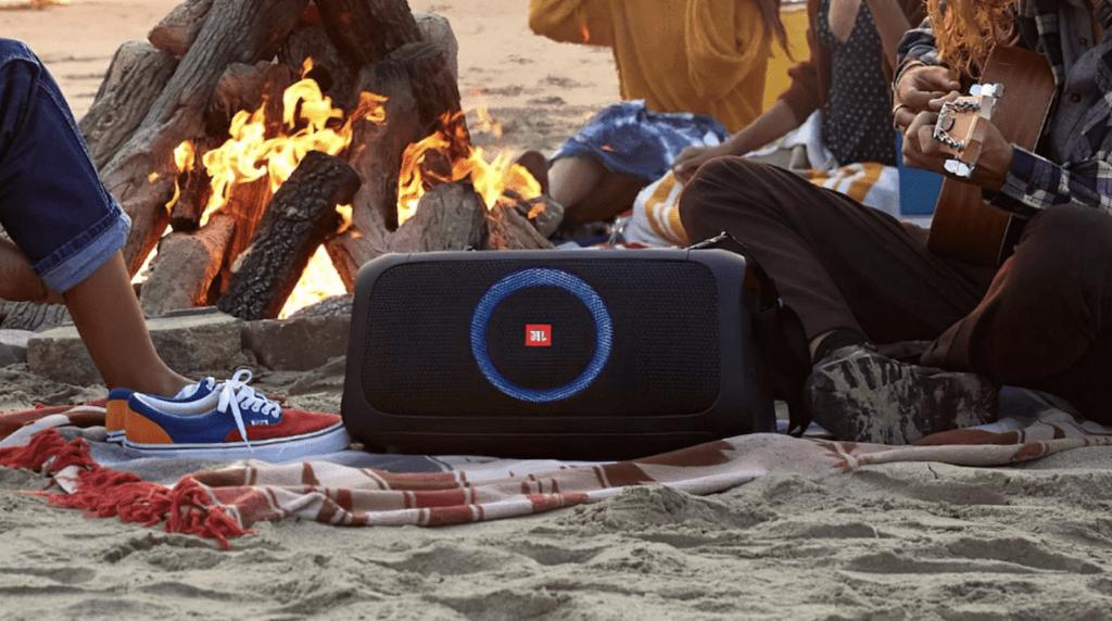 Speaker on the beach