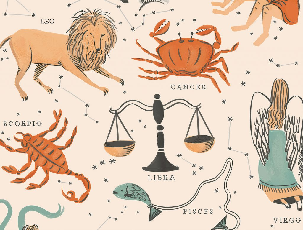 Zodiac signs and their symbols