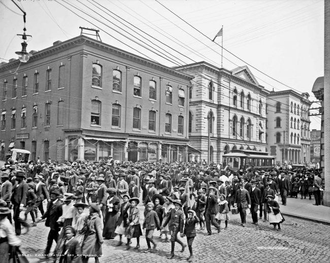 Emancipation day in Richmond, Virginia